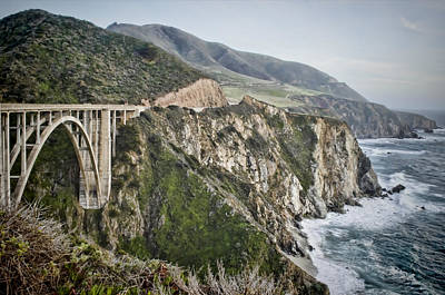 Landscape Photograph - Bixby Bridge Vista by Heather Applegate