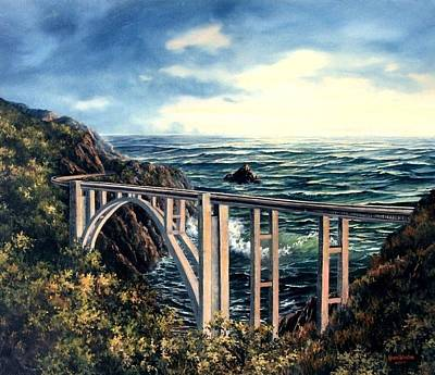 Painting - Bixby Creek Bridge by Lynne Wright