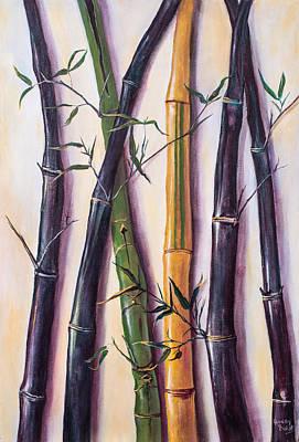 Painting - Black Bamboo by Randy Burns