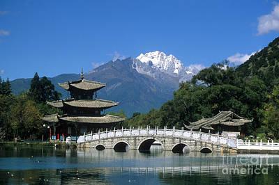 Black Dragon Pool Lijiang China Print by James Brunker
