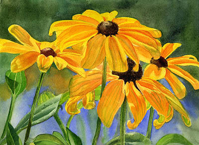 Black Eyed Susan Painting - Black Eyed Susans by Sharon Freeman