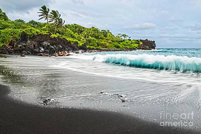 Lush Photograph - Black Sand Paradise by Jamie Pham