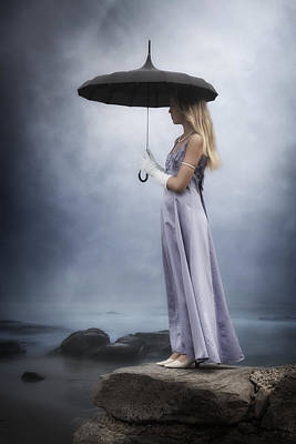Evening Gown Photograph - Black Umbrella by Joana Kruse