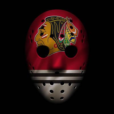Blackhawks Jersey Mask Art Print by Joe Hamilton
