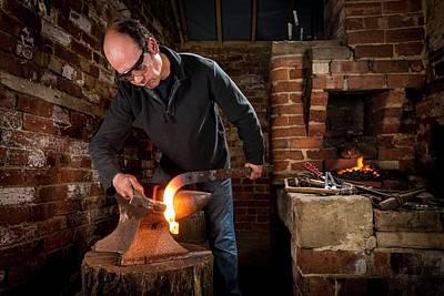 Anvil Photograph - Blacksmith At Work by Aberration Films Ltd