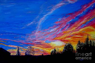 Painting - Blazing Sunset by Lisa Rose Musselwhite