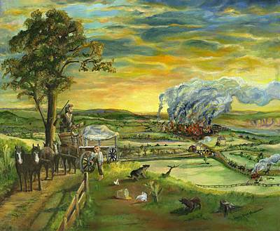 Rooster Painting - Bleeding Kansas - A Life And Nation Changing Event by Mary Ellen Anderson