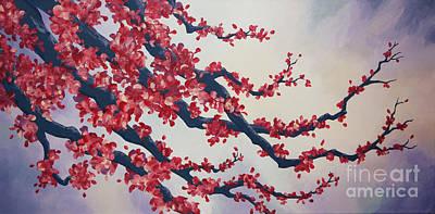 Blossoms At Dusk Art Print