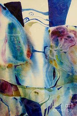 Wet On Wet Painting - Blue Abstract by Donna Acheson-Juillet