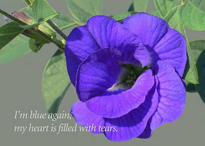 Blue Again Art Print by James Temple