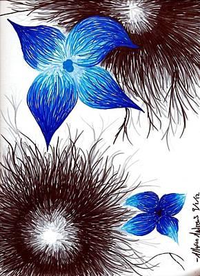 Kangaroo Mixed Media - Blue by Allyson Andrewz