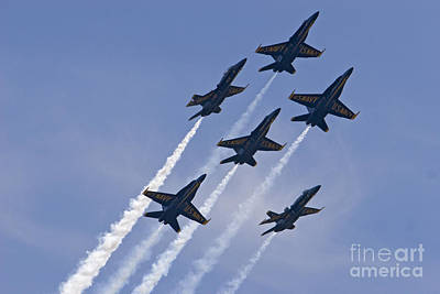 Photograph - Blue Angels by Jim West