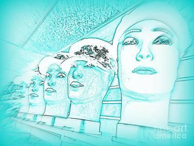 Digital Art - Blue Boys by Ed Weidman