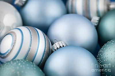 Photograph - Blue Christmas Ornaments by Elena Elisseeva
