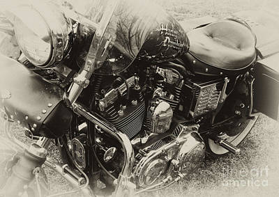 Photograph - Blue Harley by Wilma  Birdwell