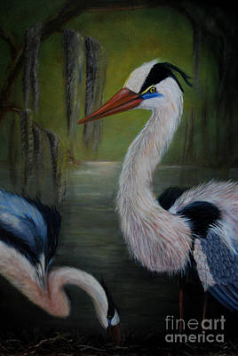 Painting - Blue Heron 2 by Nancy Bradley