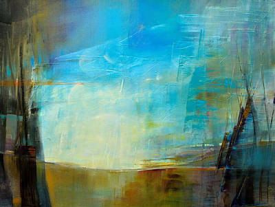 Painting - Blue Landscape by Donna Page