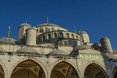 Istanbul Photograph - Blue Mosque In Istanbul Turkey by Brandon Bourdages