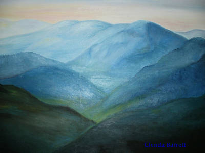 Painting - Blue Mountain Ridges by Glenda Barrett