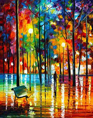 Owner Painting - Blue Reflections by Leonid Afremov