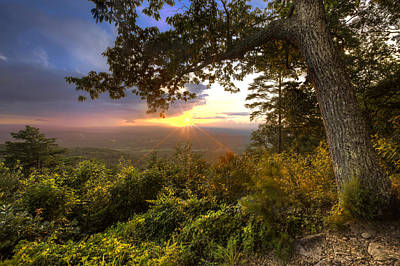 Photograph - Blue Ridge Mountain Sunset by Debra and Dave Vanderlaan