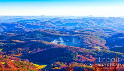 Photograph - Blue Ridge Mountains by Les Palenik