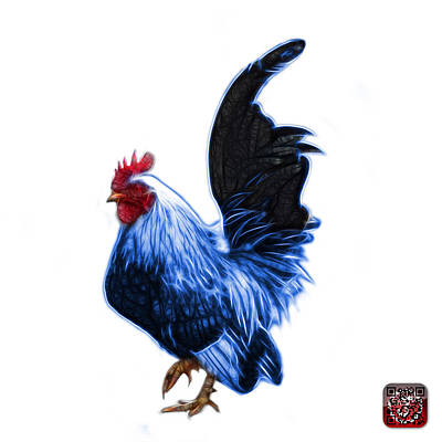 Mixed Media - Blue Rooster Pop Art - 4602 - Bb - James Ahn by James Ahn