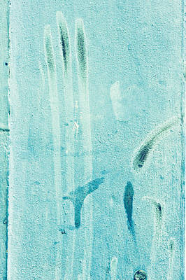 Blue Stone Background  Print by Tom Gowanlock