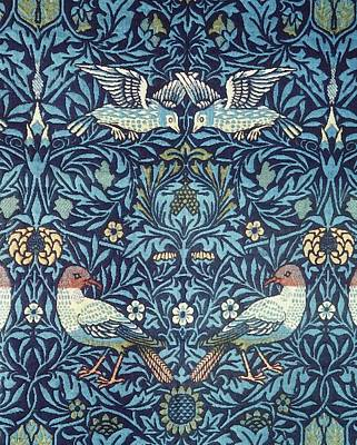 Arts And Crafts Painting - Blue Tapestry by William Morris