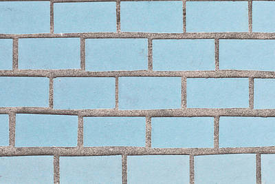 Mick Jagger - Blue tiles by Tom Gowanlock