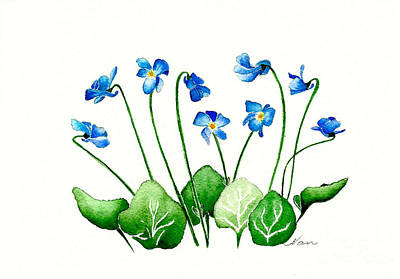 Painting - Blue Violets by Nan Wright
