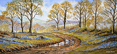 Bluebells In The New Forest Art Print by Andrew Read