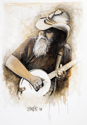 Musicians Painting - Bluegrass Banjo by William Walts