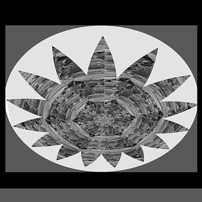 Painting - Bnw Black N White Star Ufo Art  Sprinkled Crystal Stone Graphic Decorations Navinjoshi  Rights Manag by Navin Joshi