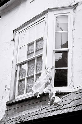 Vandalize Photograph - Boarded Up Window by Tom Gowanlock