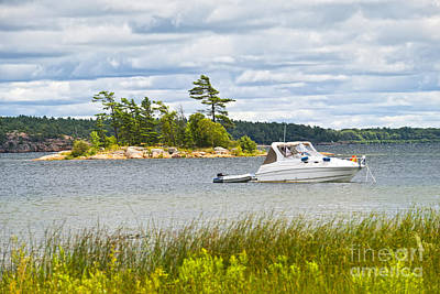 Georgian Bay Photograph - Boat On Georgian Bay by Elena Elisseeva