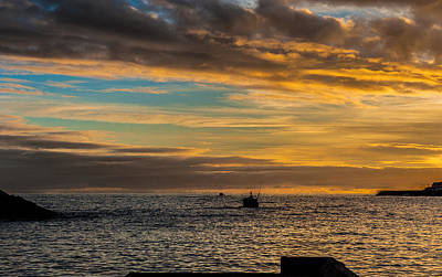 Photograph - Boat On The Ocean At Sunset by Joseph Amaral
