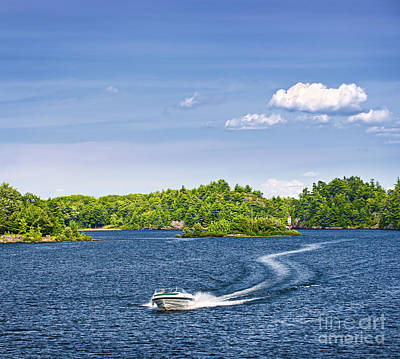 Georgian Bay Photograph - Boating On Lake by Elena Elisseeva