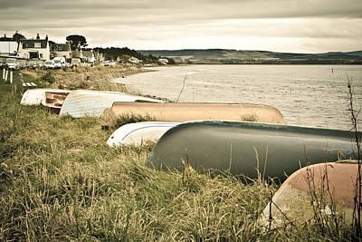 Boats At Findhorn Art Print