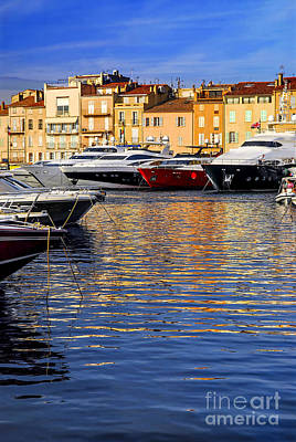 Photograph - Boats At St.tropez by Elena Elisseeva