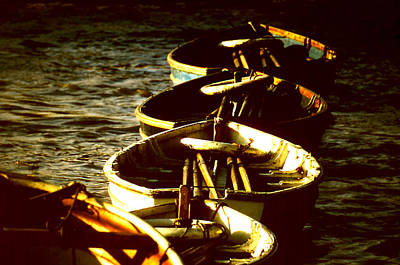 Photograph - Boats In A Line by Robert  Rodvik