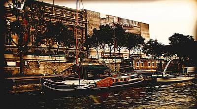 Photograph - Boats On The Seine by Bill Howard