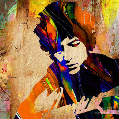 Bob Dylan Collection Art Print by Marvin Blaine
