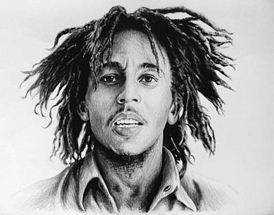 Personalities Drawing - Bob Marley by Andrew Read