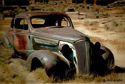 Bodie California Painting - Bodie Ghost Town Plymouth by Barbara Snyder