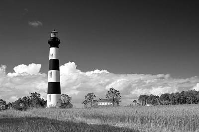 Photograph - Bodie Island Lighthouse- B And W  by Allen Beatty