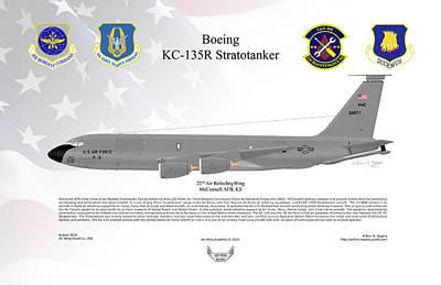 Boeing Kc-135r Stratotanker Art Print by Arthur Eggers