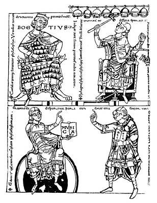 Boethius Painting - Boethius (c480-524) by Granger