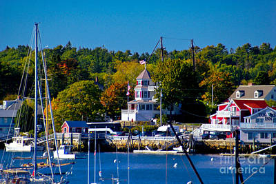 Boothbay Harbor Maine. Art Print