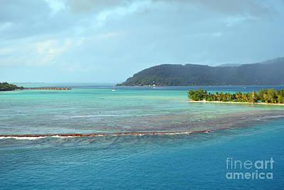 Digital Art - Bora Bora Motu Green by Eva Kaufman
